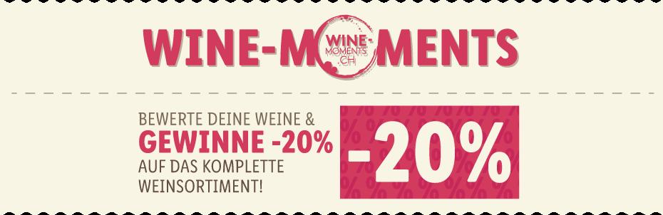 BEWERTE DEINE WEINE & GEWINNE -20% AUF DAS KOMPLETTE WEINSORTIMENT!