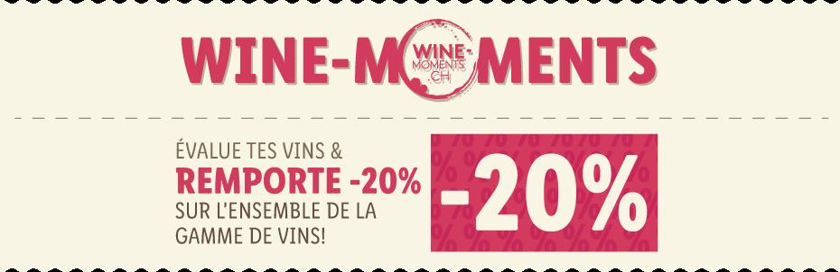 ÉVALUE TES VINS & REMPORTE -20% SUR L'ENSEMBLE DE LA GAMME DE VINS!