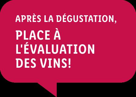 Après la dégustation, place à l'évaluation des vins!